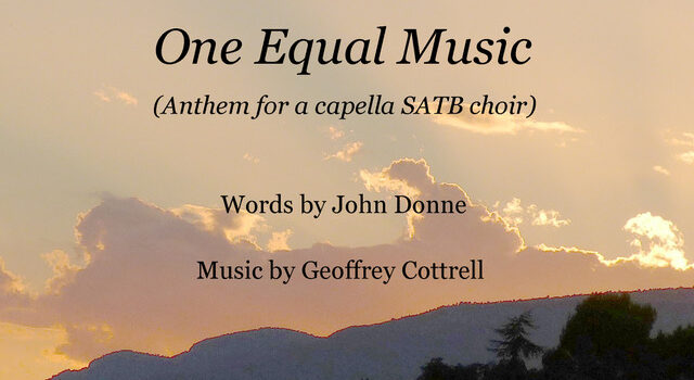 One Equal Music for SATB solo choir